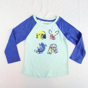 5/$25 NWOT Cat & Jack Long Sleeve Graphic Tee 2T